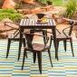 美式乡村户外休闲桌椅组合茶餐厅桌子椅子花园室外阳台桌桌椅